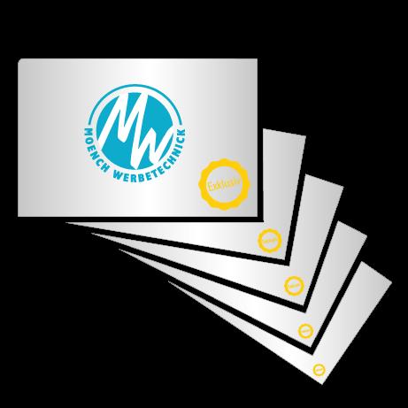 Visitenkarte Exklusiv Mönch Werbetechnik Druck Messe